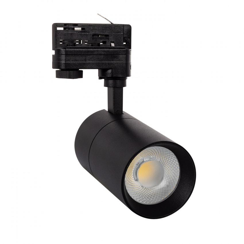 Spot LED Dimmable New Mallet 20W Noir pour Rail Triphasé (3 Allumages)