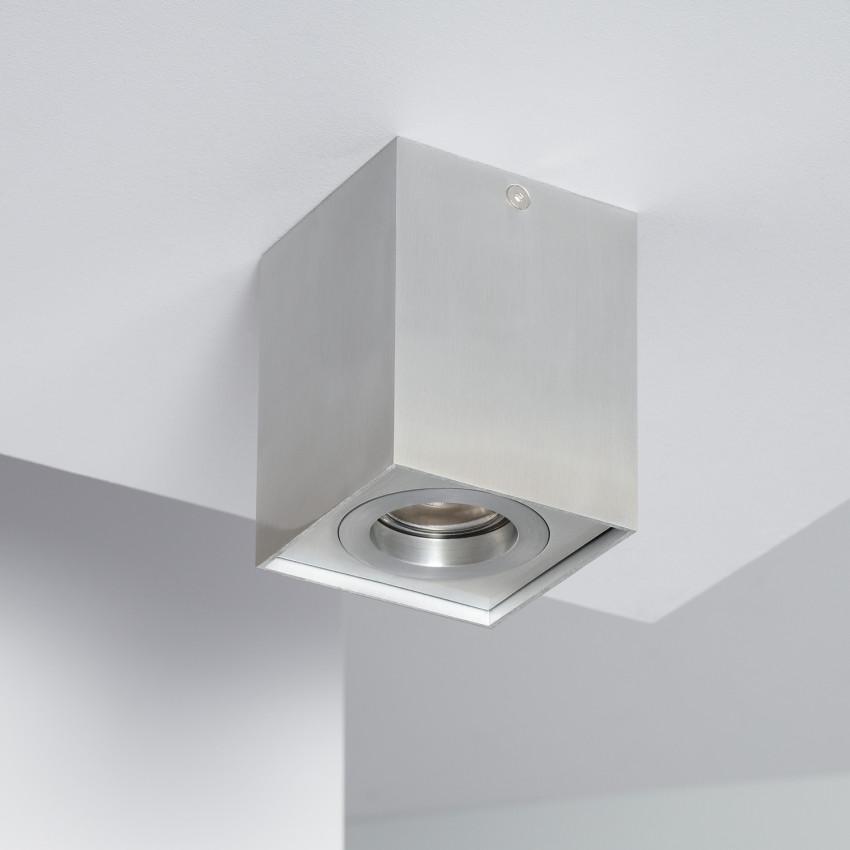 Plafonnier Jaspe Aluminium Argenté