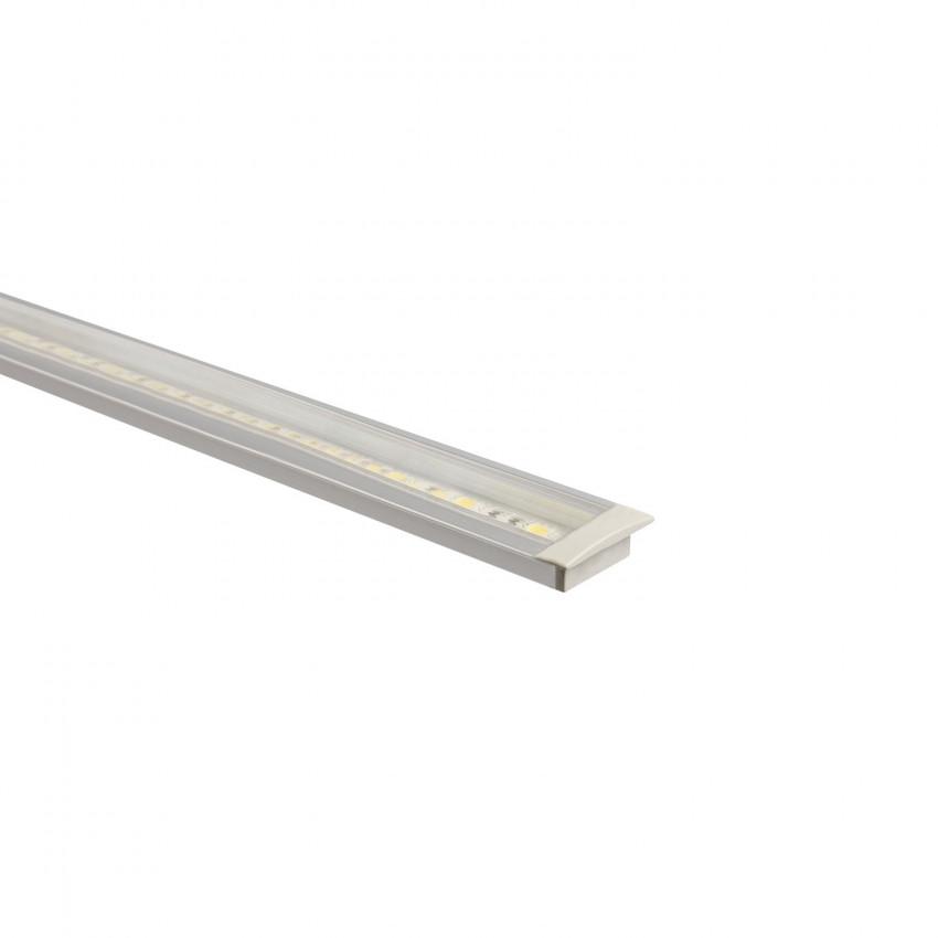 Profilé Aluminium Encastrable avec Capot Continu pour Ruban LED