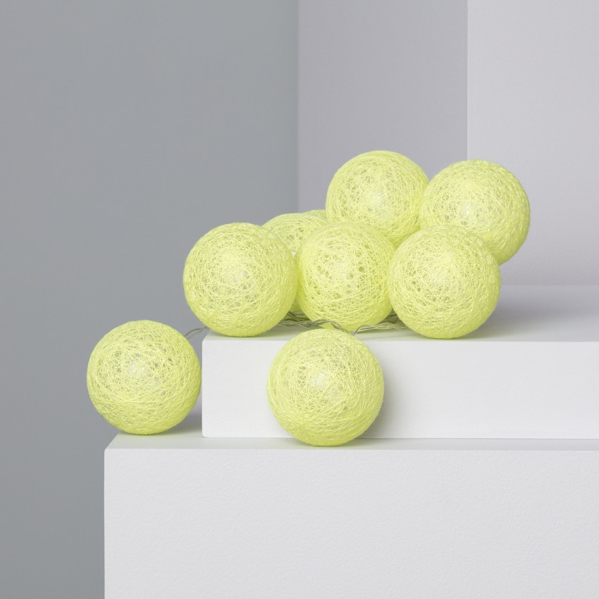Guirlande LED 10 Boules Lemon 1.65m/2.85m