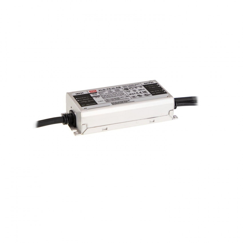 Driver MEAN WELL 100-240V IP67 Sortie 27-56V DC 1300-2100mA 75W XLG-75-H-AB