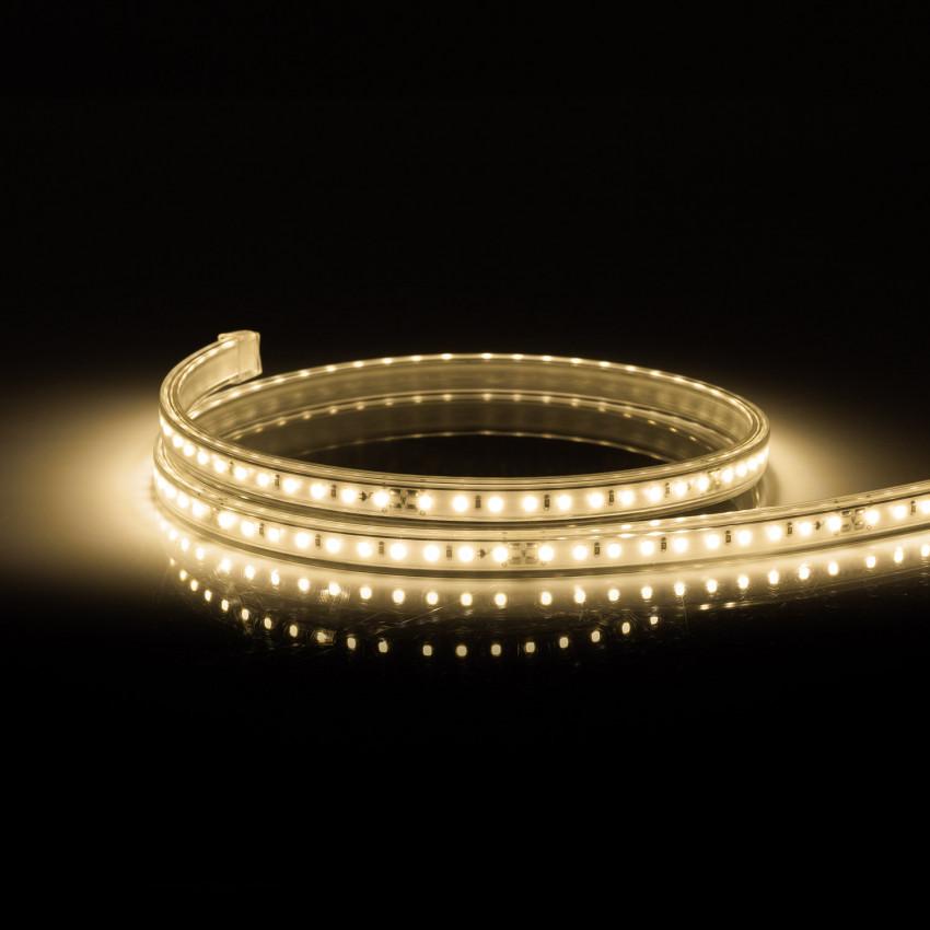 Ruban LED 220V AC 100 LED/m IP67 CRI 85 Blanc Chaud Sur Mesure Coupe Tous les 10cm