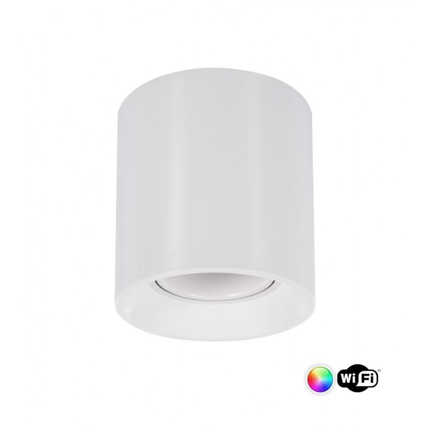 Plafonnier Quartz PC Blanc Smart WiFi Dimmable RGBW 4W