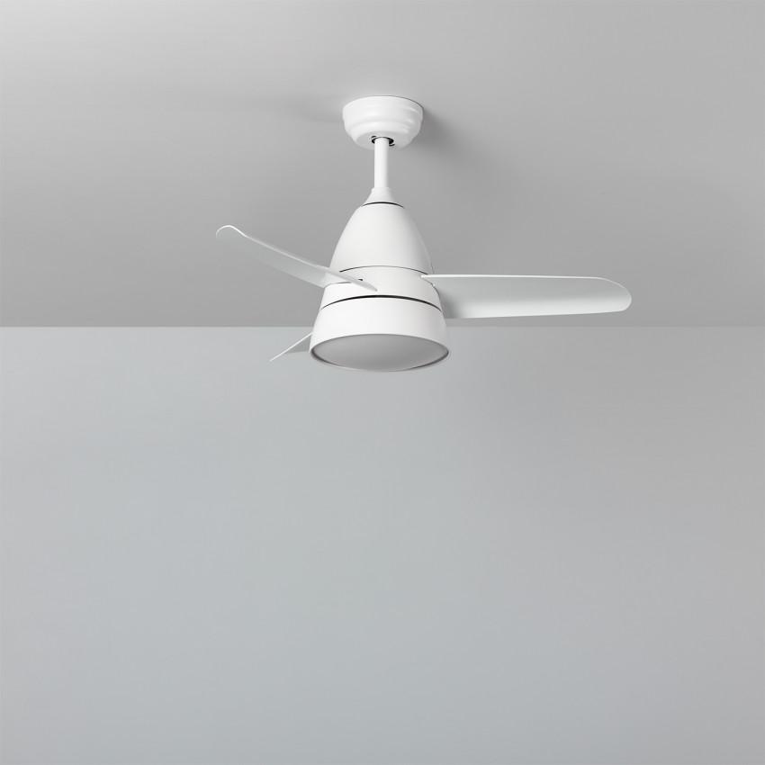Ventilateur de Plafond LED Smart WiFi Industriel Blanc CCT Sélectionnable 55W