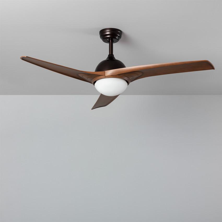 Ventilateur de Plafond LED Mistral Marron 132cm Moteur AC
