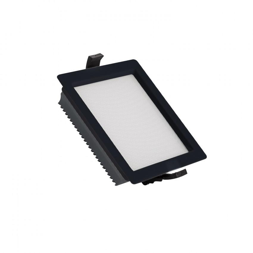 Downlight LED SAMSUNG New Aero Slim Carré 130lm/W 15W (UGR17) LIFUD Noir Coupe 135x135mm
