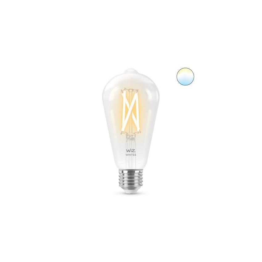 Ampoule LED Smart WiFi E27 ST64 CCT Dimmable WIZ Filament 6.7W