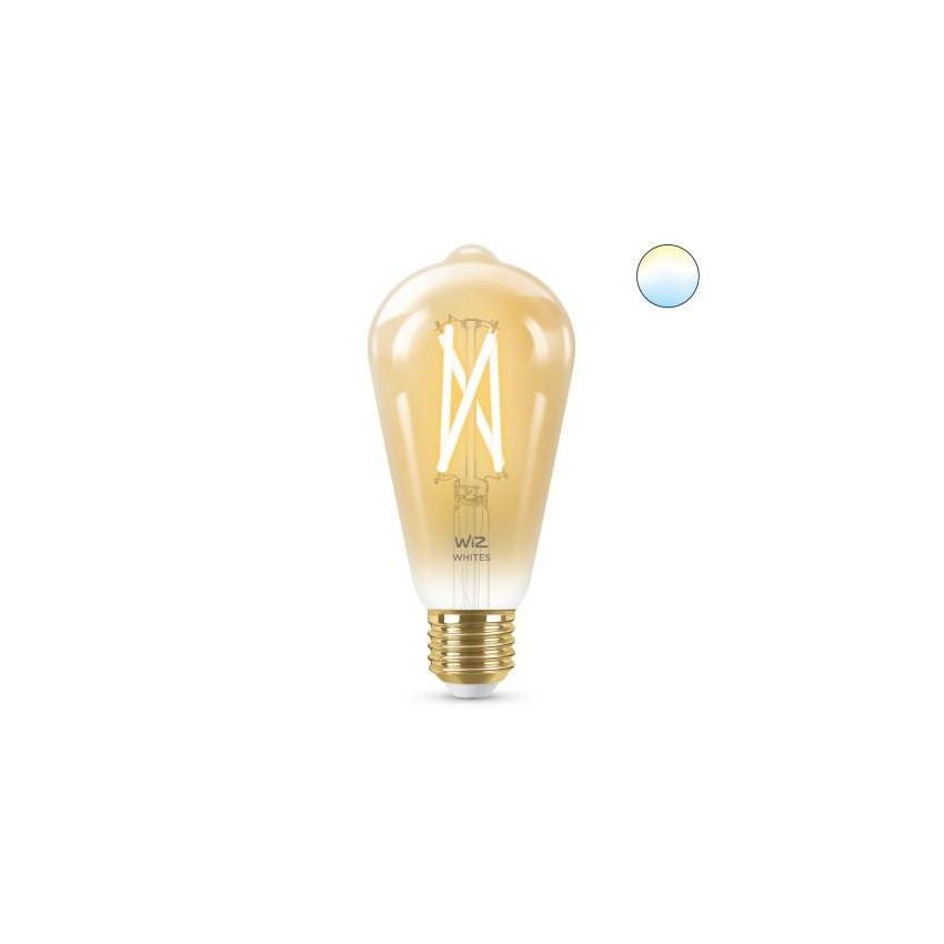 Ampoule LED Smart WiFi E27 ST64 CCT Dimmable WIZ Filament Vintage 6.7W