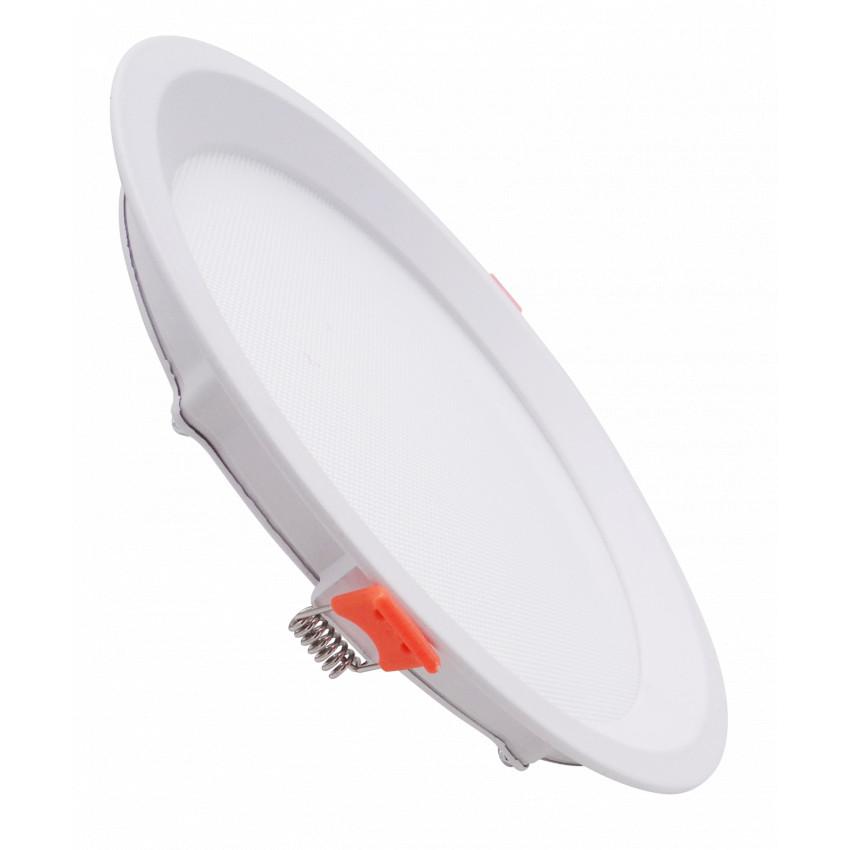 Dalle LED Ronde Slim 7W CCT Sélectionnable LIFUD (UGR17) Coupe Ø 75mm