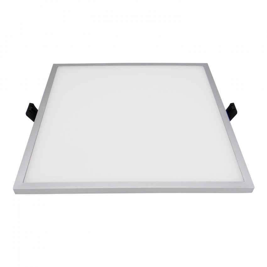 Dalle LED Carrée Slim Surface 30W (UGR19) LIFUD Grise Coupe Ø205mm