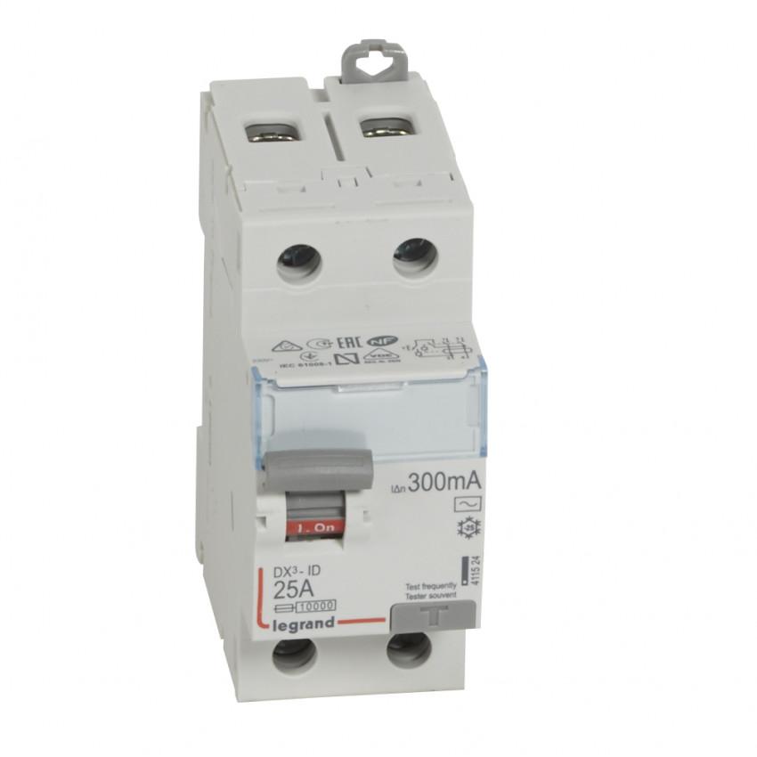 Interrupteur Différentiel DX3 Tertiaire 2P-300mA Type AC 25-63A LEGRAND 411506