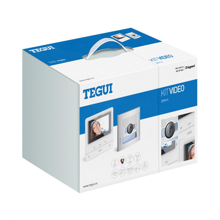 Kit Visiophone 1 Logement 2 fils avec Panneau SFERA NEW et Moniteur Mains Libres CLASSE 100 Basic TEGUI 379111