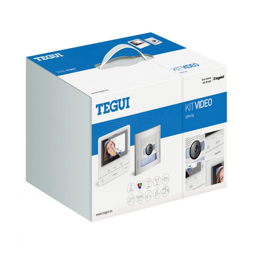 Kit Visiophone 1 Logement 2 fils avec Panneau SFERA NEW et Moniteur Mains Libres CLASSE 100 V16E Avancé TEGUI 379115