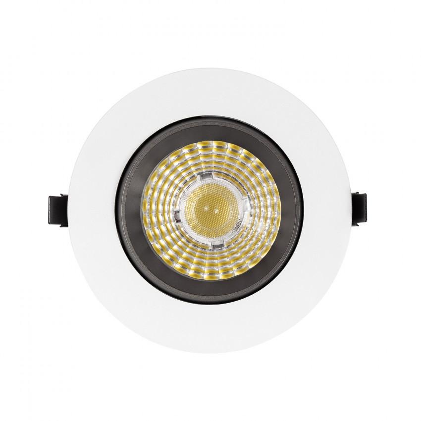Spot Downlight LED 18W COB Orientable Rond Gris Design Coupe Ø 120mm