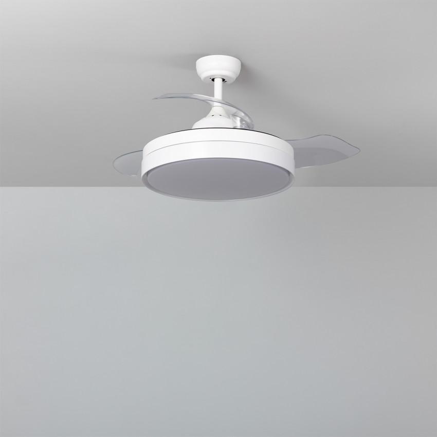 Ventilateur de Plafond LED Dalori Blanc 106cm Moteur DC