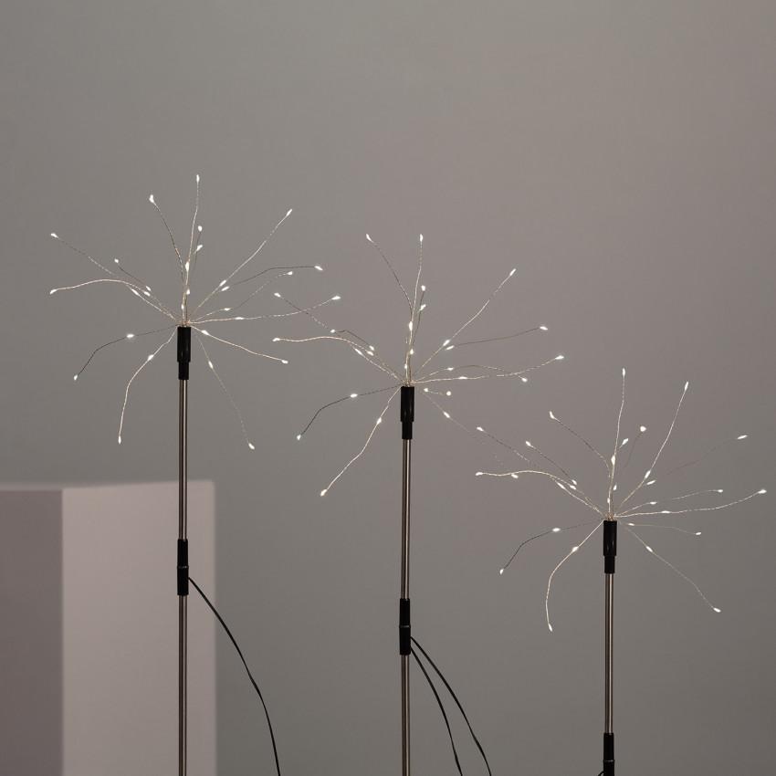 Set de 3 Piquets LED Pissenlits à avec Chargeur Solaire