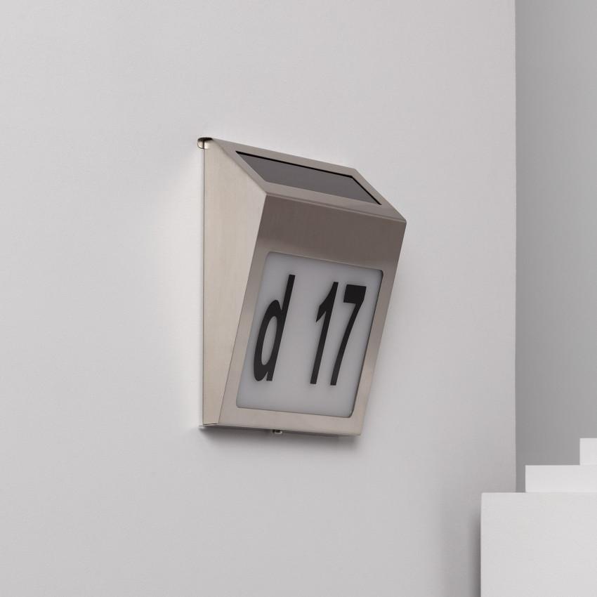 Applique LED Solaire Barua pour Numérotation de Maisons