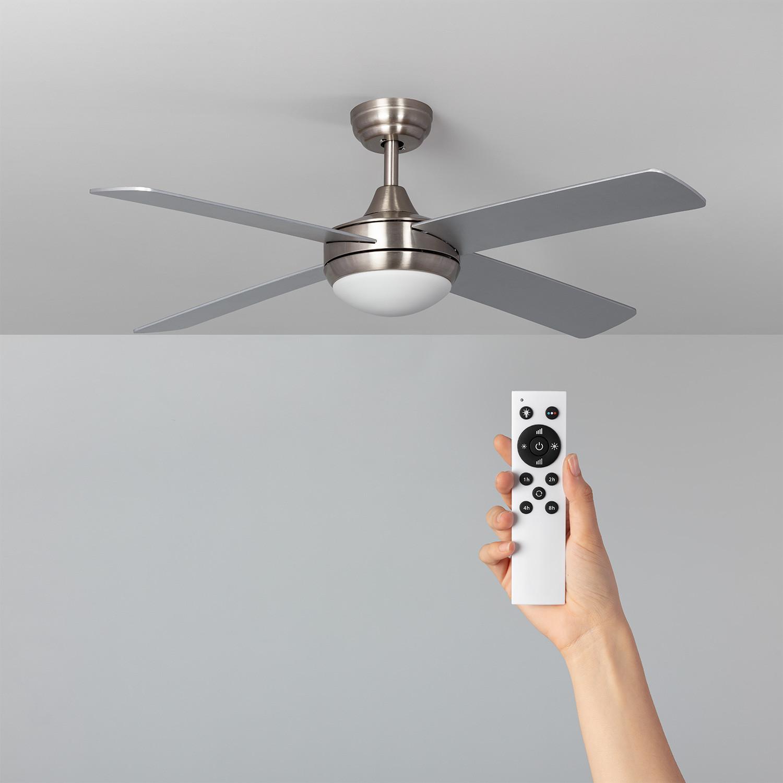 Ventilador de Techo Leirus LED Niquel 60W