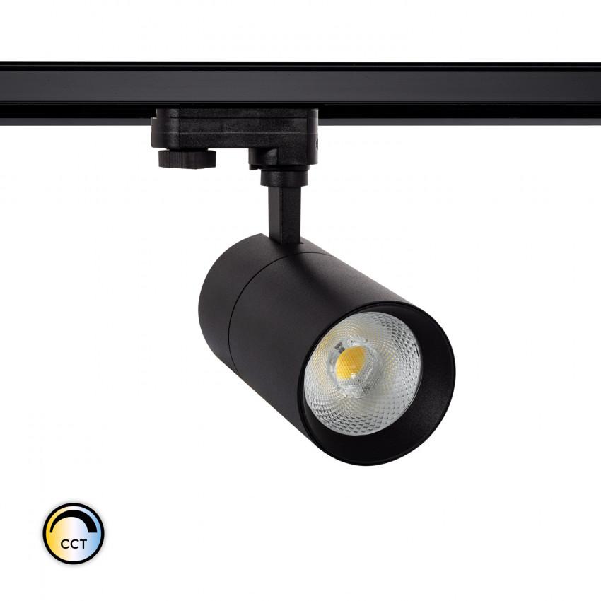 Spot LED Dimmable New Mallet CCT Sélectionnable 20W pour Rail Triphasé (3 Allumages)