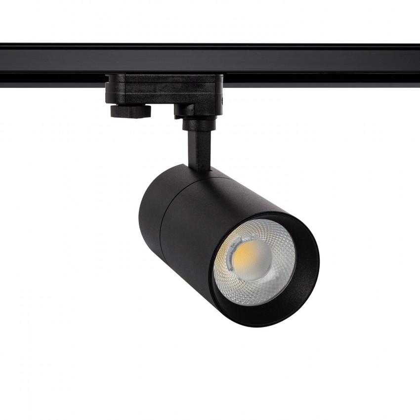 Spot LED Dimmable New Mallet 30W Noir pour Rail Triphasé (3 Allumages)