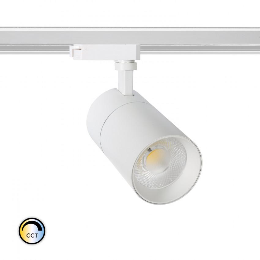 Spot LED New Mallet Dimmable Sélectionnable CCT 30W pour Rail Biphasé (UGR 15)