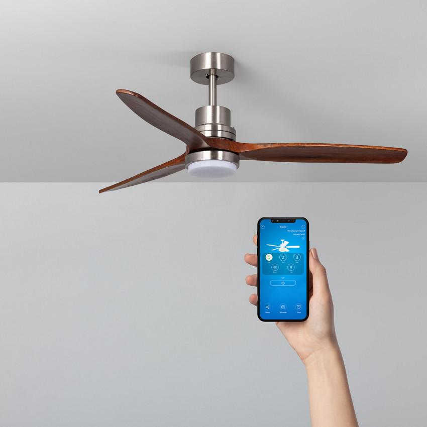 Ventilateur de Plafond LED Savate Niquel 132cm Moteur DC WiFi