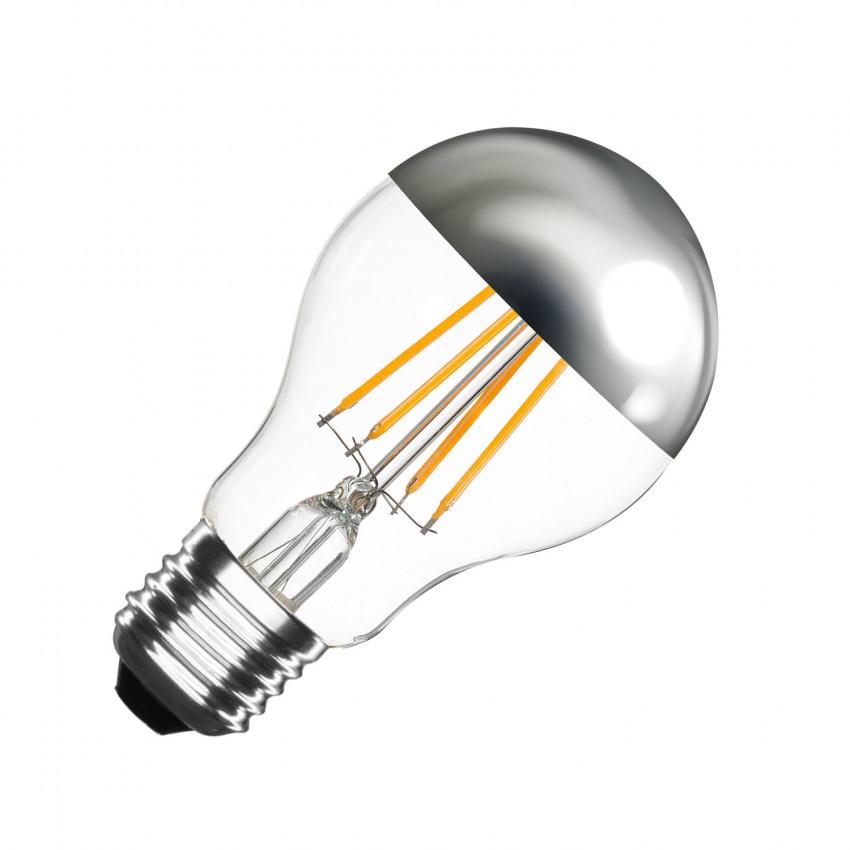 Ampoule LED E27 Dimmable Filament Chrome Reflect Classic A60 6W