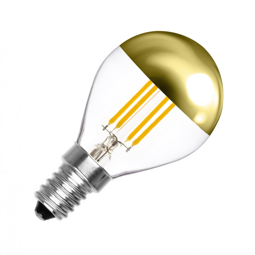Ampoule LED E14 Dimmable Filament Gold Reflect G45 4W