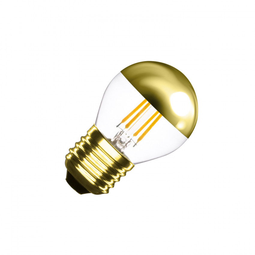 Ampoule LED E27 Dimmable Filament Gold Reflect Small Classic G45 4W