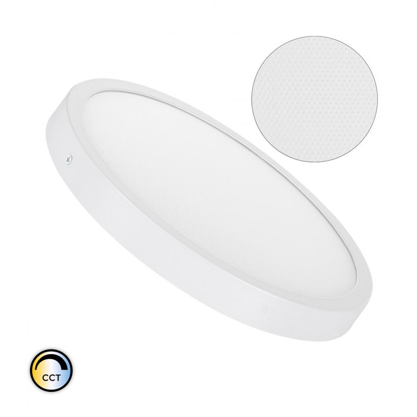 Plafonnier LED Rond 24W Extra-Plat (CRI90) Microprismatique CCT Sélectionnable (UGR17)