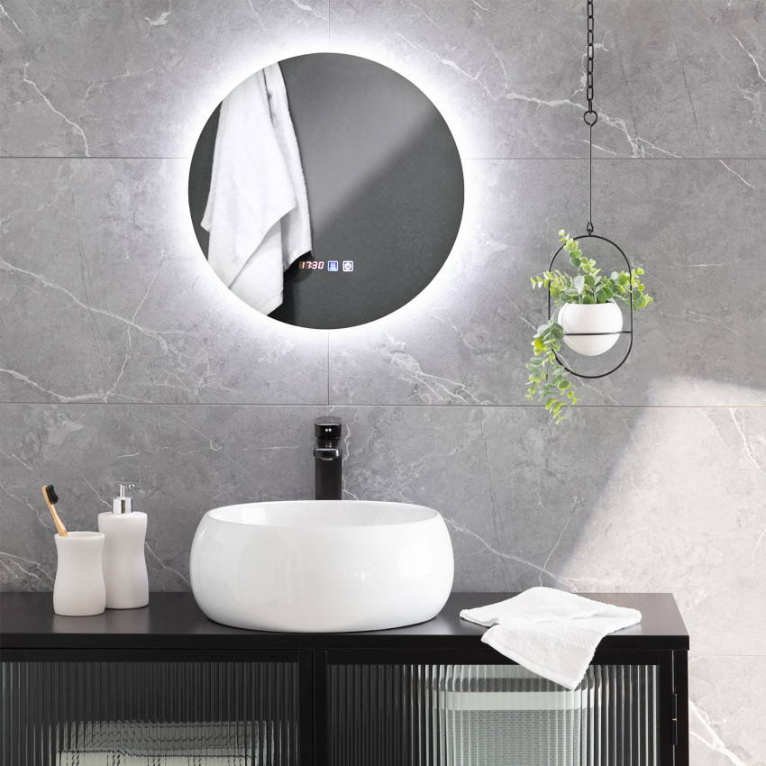 Miroir LED Anti-buée Tactile Volpe Ø45cm