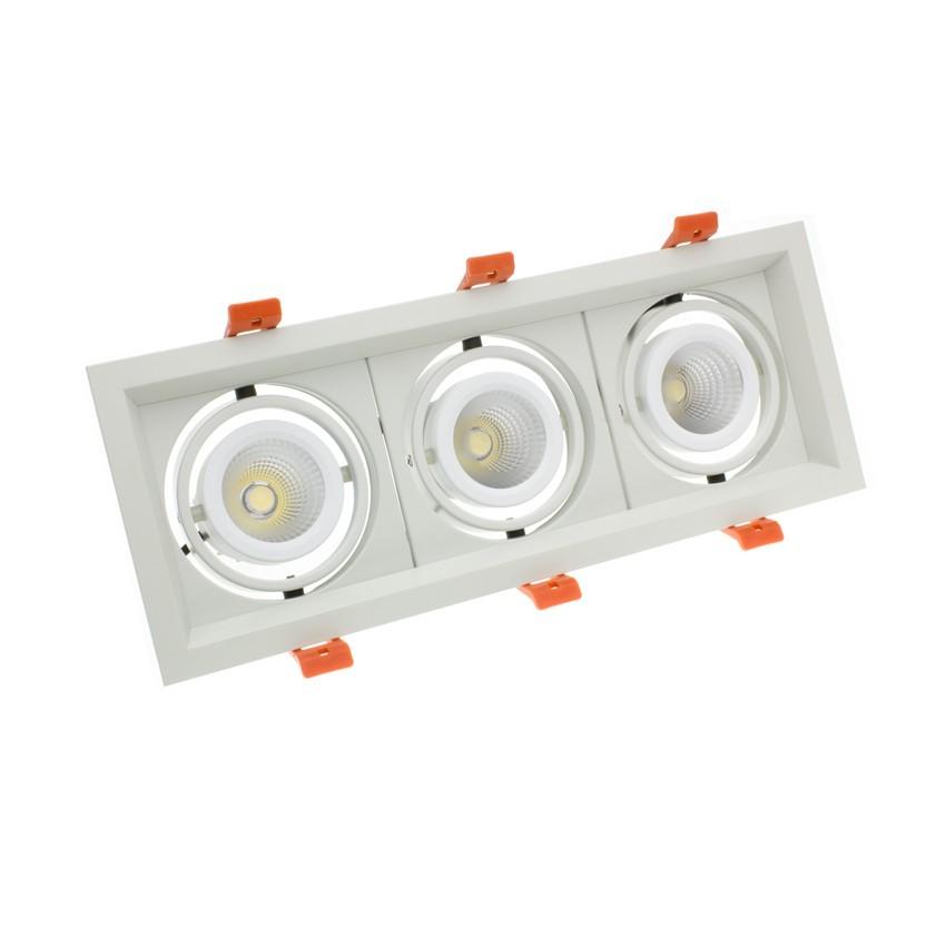 Spot Downlight LED CREE-COB Madison Orientable 3x10W LIFUD (UGR 19) Coupe 295x110mm