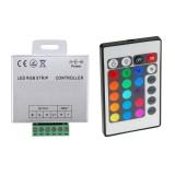 Contrôleur Ruban LED RGB 12V,  Dimmable par Télécommande IR 24 Touches