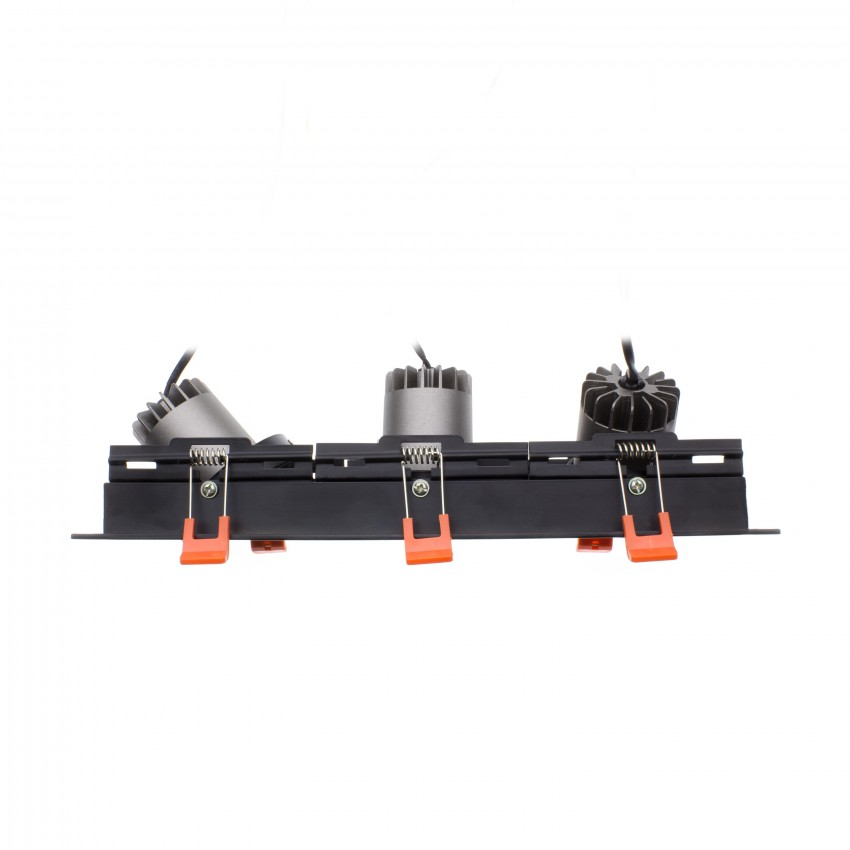 Foco Madison LED Direccionable COB 3x10W Black
