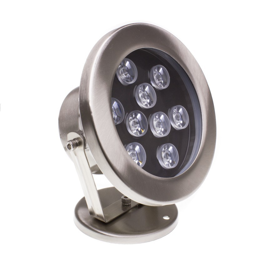 Spot LED Fixation au Sol RGB 12V 9W IP68