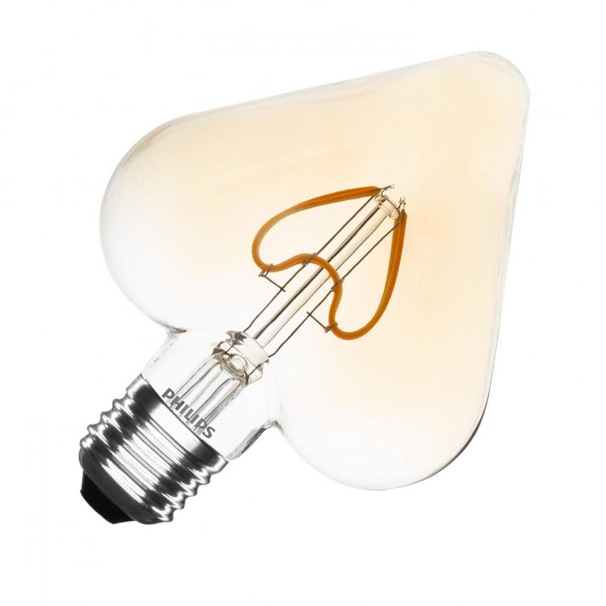 Ampoule LED E27 Filament Gold Classic PHILIPS Heart G127 2.3W
