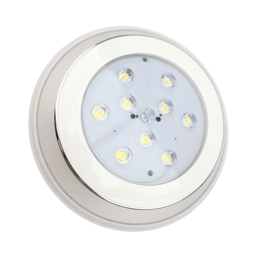 Spot led piscine en saillie 9w ledkia france for Spot piscine led