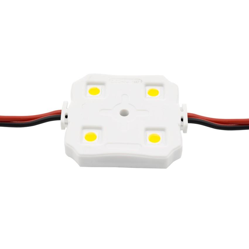 Catena di 20 Moduli Quadrati da 4 LED SMD5050 12V 1W