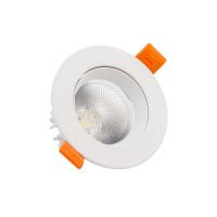 Faretto Downlight LED COB Orientabile Rotondo 7W Bianco