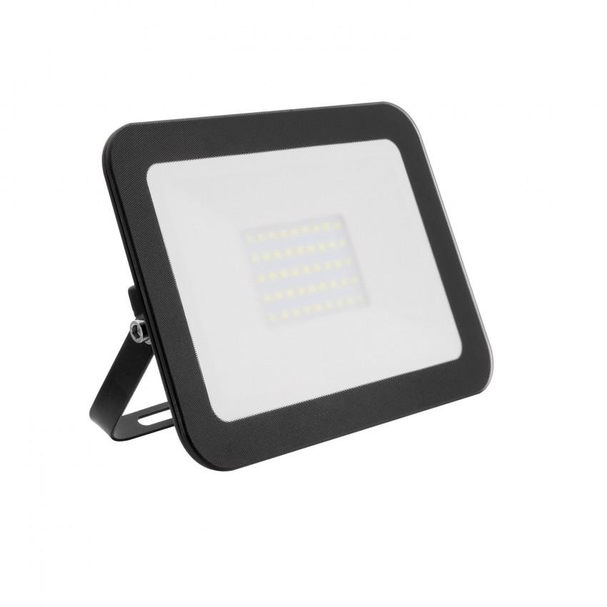 Proiettore LED Slim 30W 120lm/W IP65 Vetro Nero