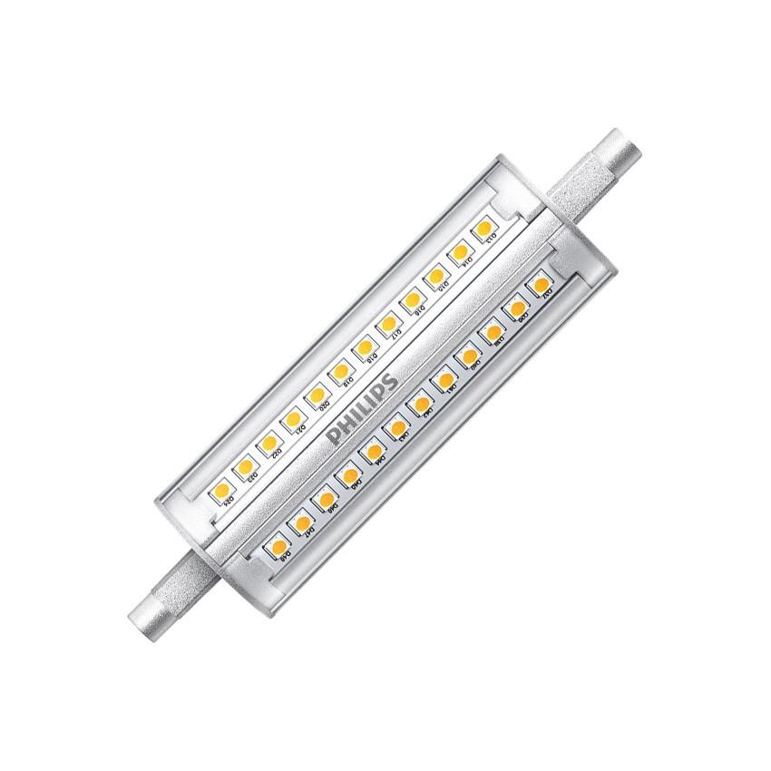 Lampadina led r7s regolabile philips corepro 118mm 14w for Lampada a lampadina