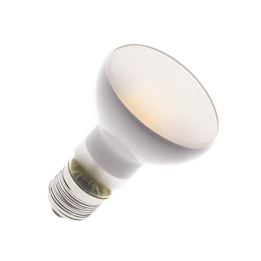 Lampadina LED E27 Regolabile Filamento R63 Frost 6W