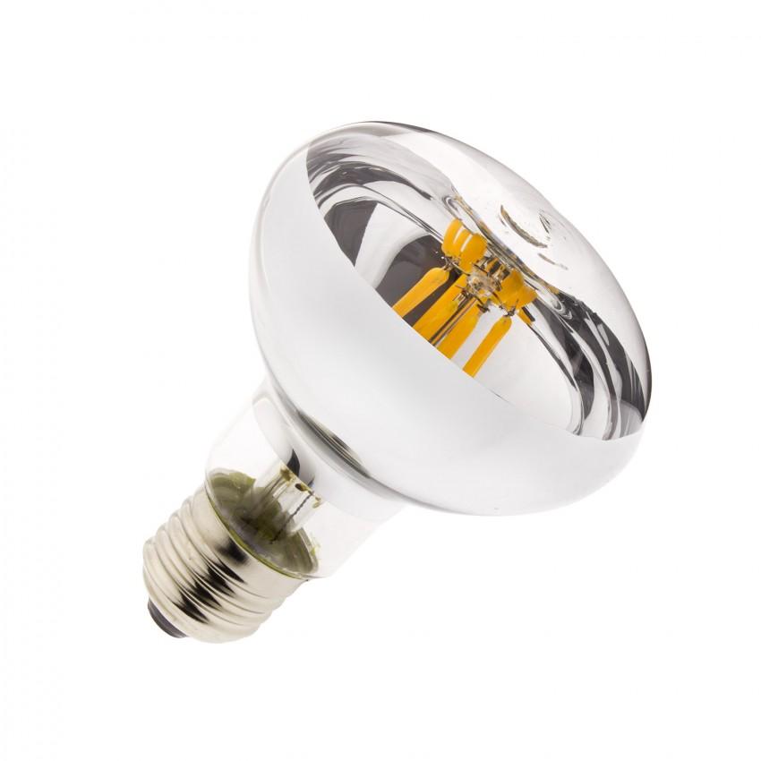 Lampadina LED E27 Regolabile Filamento R80 6W