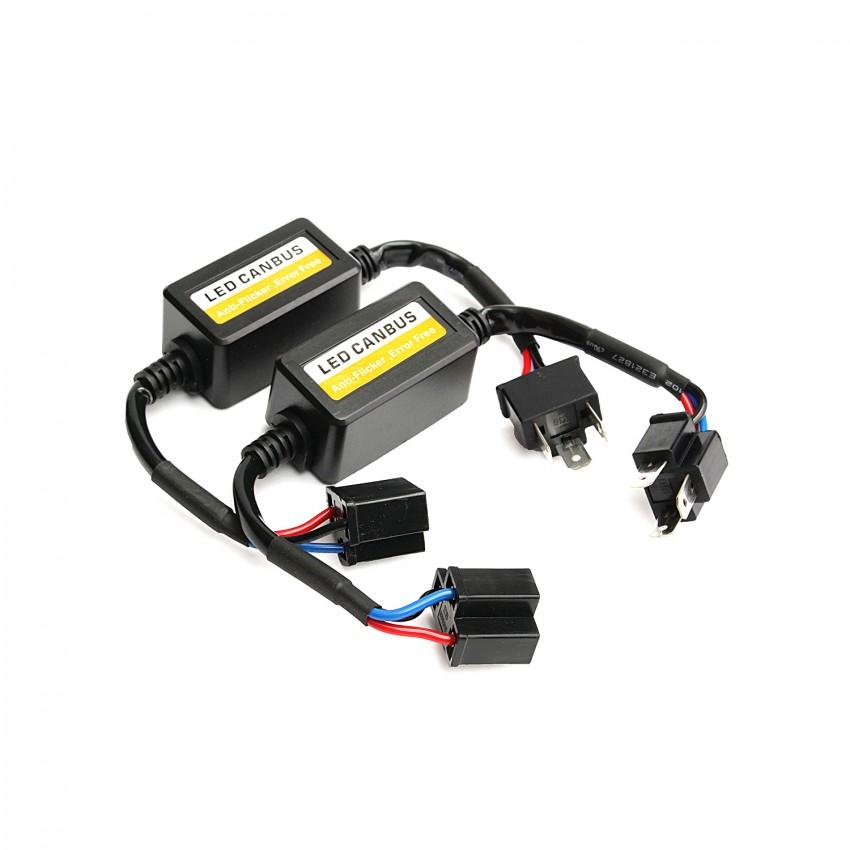 Kit di adattatori can bus per lampadine led h7 per auto o for Kit lampadine led