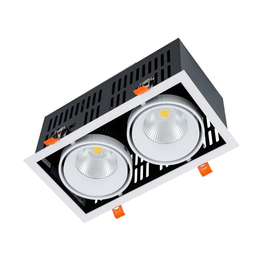 Faretto Downlight LED SAMSUNG-COB Grill Orientabile 60W LIFUD Foro 270x140mm