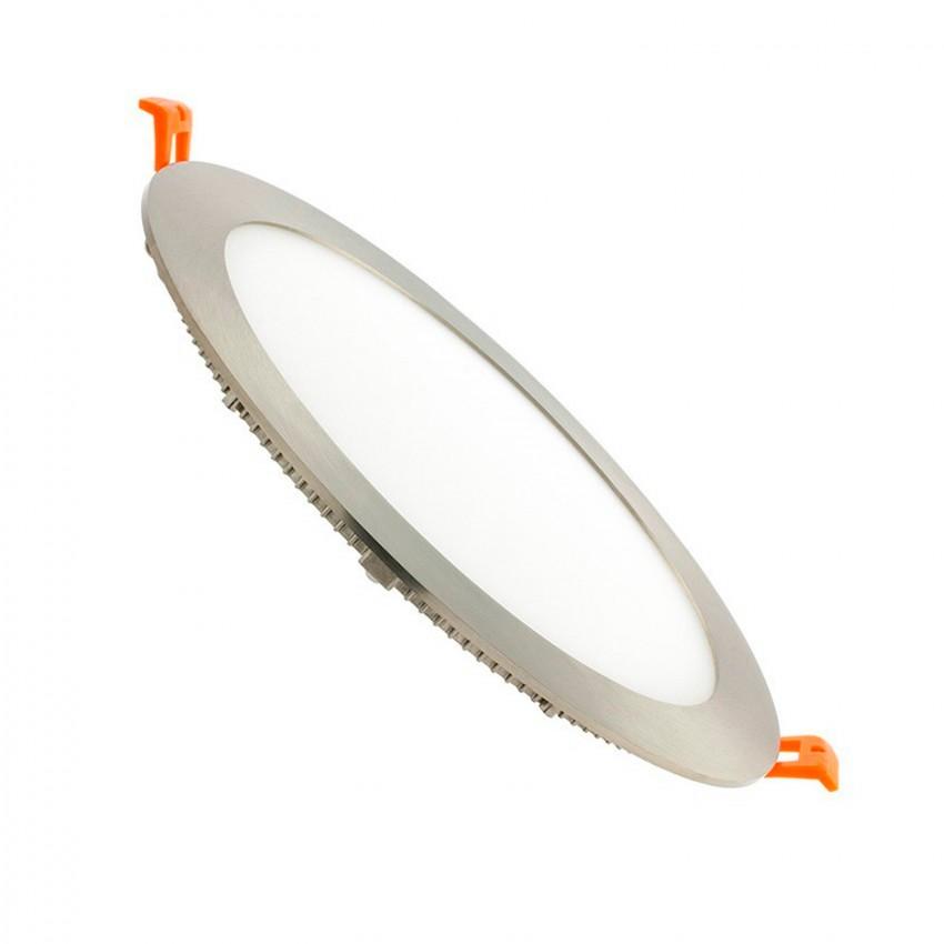 SuperSlim LED Rotonda 15W Argento