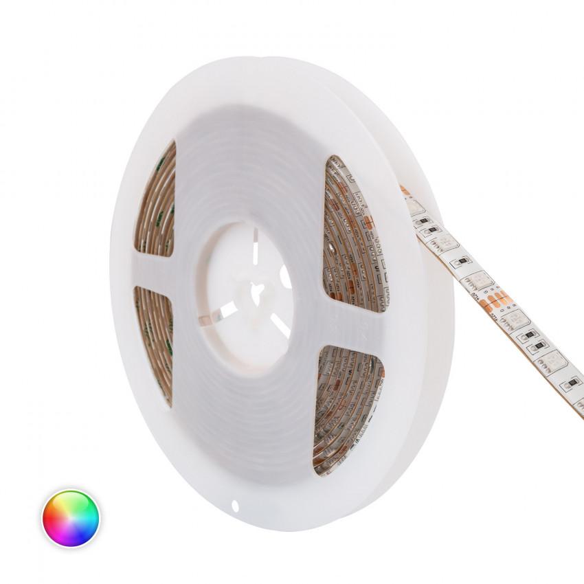 Striscia LED  RGB 12V DC 60LED/m 5m IP65