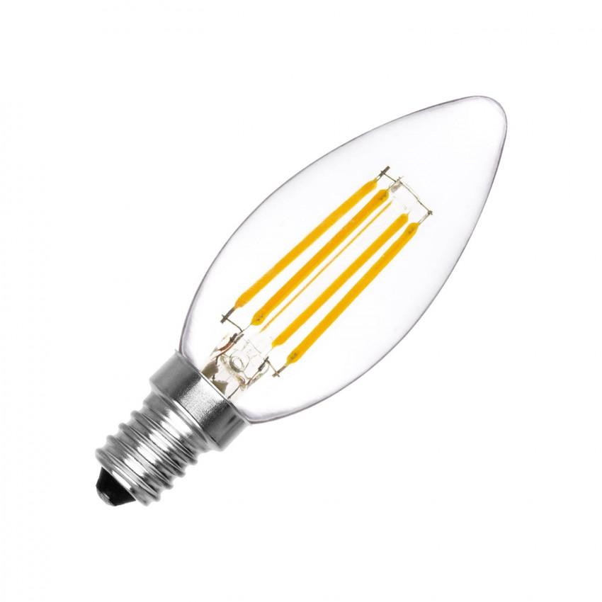 Lampadina LED E14 Filamento C35 4W