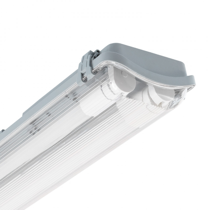 Plafoniera Stagna Slim per due Tubi LED 1200mm Connessione Unilaterale IP65