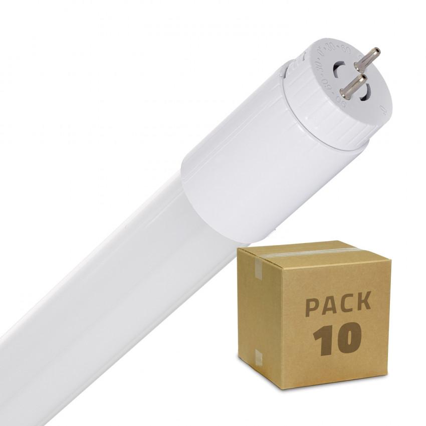 Pack Tubo LED T8 Vetro 600mm Connessione Unilaterale 9W 110lm/W (10 Un.)